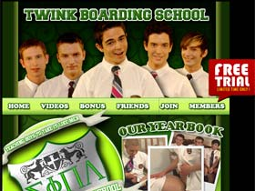 Welcome to Twink Boarding School - cute teaching boys suck and fuck in gay action!